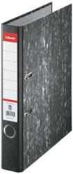 Ordner Esselte A4 50mm smal karton zwart gewolkt.