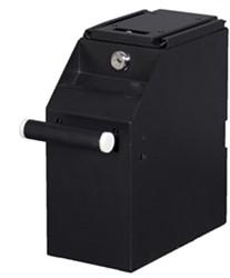 Cashbox 250x130x250mm met geldtransporteur zwart.
