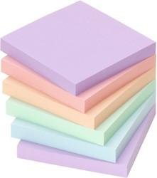 Memoblok zelfklevend Info-Notes 75x75mm assorti kleuren harmony 6 stuks.