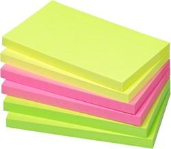 Memoblok zelfklevend Info-Notes 125x75mm assorti kleuren briljant 6 stuks.