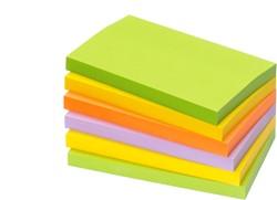 Memoblok zelfklevend Info-Notes 125x75mm assorti kleuren spring 6 stuks.