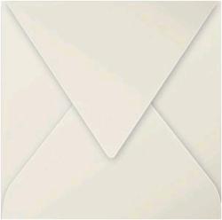 Gekleurde envelop Pollen 140x140mm 120 grams parelgrijs 20 stuks.