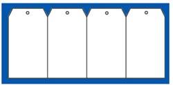 Label 60x120cm wit + gat 1000 stuks.