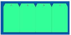 Label 60x120mm groen + gat 1000 stuks.