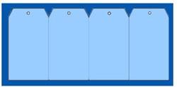 Label 60x120cm blauw + gat 1000 stuks.