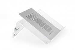 Documenthouder Bakker-Elkhuizen Flaxdoc Cristal Clear acrylaat.