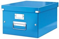 Opbergbox Leitz Click & Store 281x369x200mm A4 blauw.