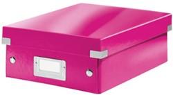 Opbergbox Leitz Click&Store S A5+ roze afmeting: BxDxH = 220x282x100mm.