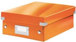 Opbergbox Leitz Click&Store A5 220x282x100mm oranje.