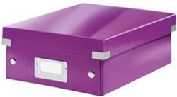 Opbergbox Leitz Click&Store A5 220x282x100mm paars.