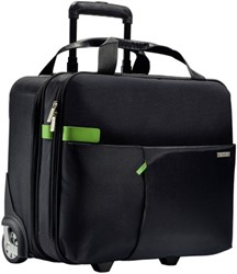 Laptop trolley Leitz Smart Traveller 15.6 inch zwart/groen.