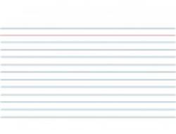 Systeemkaarten Kangaro lijn wit 170x235mm 100 stuks.