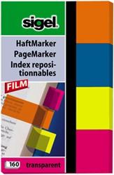 Indexeringsstrookjes Sigel 20x50mm 4 kleuren 4x40 stuks HN-614.