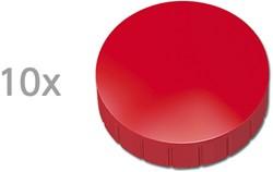 Magneten Solid Maul rond 32mm rood trekkracht 0.8kg 10 stuks.