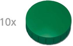 Magneten Solid Maul rond 32mm groen trekkracht 0.8kg 10 stuks.