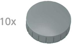 Magneten Solid Maul rond 32mm grijs trekkracht 0.8kg 10 stuks.