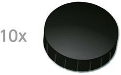 Magneten Solid Maul rond 32mm zwart trekkracht 0.8kg 10 stuks.