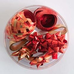 Cadeaulint en sterren rood.