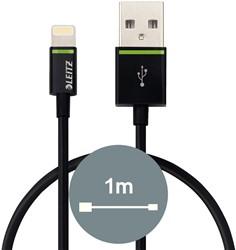 Oplaadkabel Leitz Complete Lightning-USB 1 meter zwart.