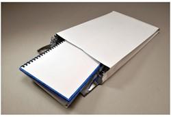 Akte envelop met zijvouw EB4 262x371x38mm 170 grams creme kraft 125 stuks.
