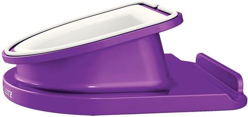 Bureaustandaard Leitz WOW draaibaar voor iPad/tablet-pc in de kleur paars