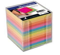 Memokubus navulling 90x90x90mm 700 vel assorti kleuren.