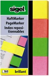 Indexeringsstrookjes Sigel 20x50mm 4 kleuren 4x40 stuks HN-630.
