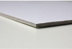 Zeefdrukkarton 2-zijdig wit beplakt 100x120cm 1550 gram dikte 2.25mm.