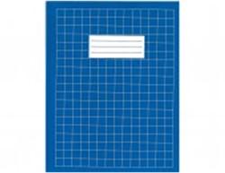 Schrift Clarefontaine A4 soepele kartonnen kaft in assorti kleuren - 40 vel 5mm geruit papier.