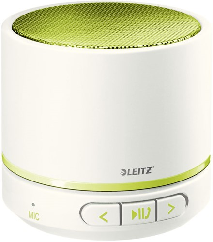 Mini Bluetooth Speaker Leitz WOW in de kleur wit/groen.