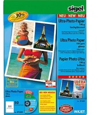 Fotopapier Sigel Ultra Paper glanzend A4 190 grams 50 vel (SI-IP639).
