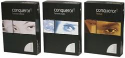 Papier Conqueror A4 100 grams hagelwit met watermerk en verpakt per 500 vel.