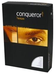 Papier Conqueror A4 100 grams wit met watermerk en verpakt per 500 vel.