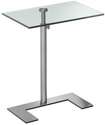 "Bijzettafel Lourens Fisher model 'For U Occasional Table"" blad 30x50cm glas MD6424."