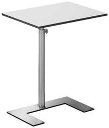 "Bijzettafel Lourens Fisher model 'For U Occasional Table"" blad 30x50cm wit triplex MD6424AB."