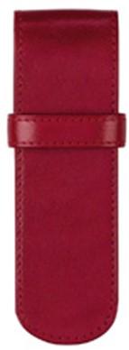 Pen etui Succes 2-vaks rood kalfsleder AZ065RS12.