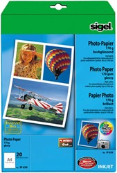 Fotopapier Sigel Top Photo glanzend A4 170 grams 20 vel (SI-IP659).