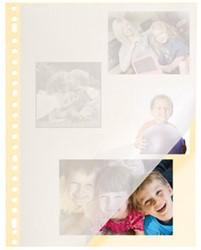 Fotobladen Kangaro 23-rings creme 20 vel met pergamijnen dekvel.