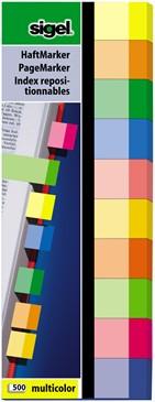 Indexeringsstrookjes Sigel 15x50mm 10 kleuren 10x50 stuks HN-682.