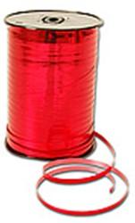 Cadeauband 10mmx250meter metallic rood kleur 07.