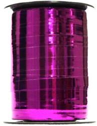 Cadeauband 10mmx250meter metallic fuchsia kleur 13.