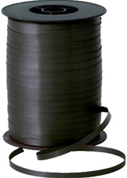 Cadeauband 10mmx250meter metallic zwart kleur 18.