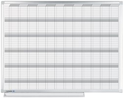 Jaarplanner Legamaster professional met geemailleerd schrijfoppervlak 90x120cm.