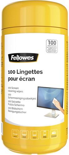Reiniger Fellowes beeldscherm doekjes dispenser 100 stuks.
