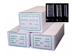 Textielpins standaard 40mm wit 5.000 stuks t.b.v. textieltangen.