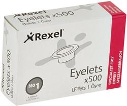 Ringen Rexel nr.1 500 stuks diameter 4.7mm lengte 3.2.