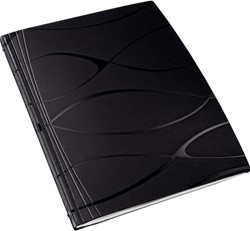 Inbindomslag Vivanto Leitz ImpressBIND A4 zwart rug 10.5mm 71-105 vel 10 stuks.