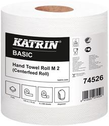 Handdoekrol Katrin Basic System M2 wit 19,0x30 135mtr. 2-laags 450 vel 6 rollen.
