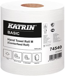 Handdoekrol Katrin Basic System M wit 19,0x30 259,5mtr. 1-laags 865 vel 6 rollen.
