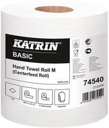 Handdoekrol Katrin Basic System M wit 19cm x 259,5mtr. 1-laags 6 rollen.